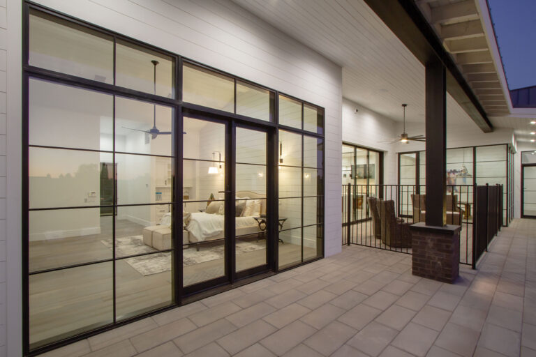 Kolbe Modern Patio doors square large black