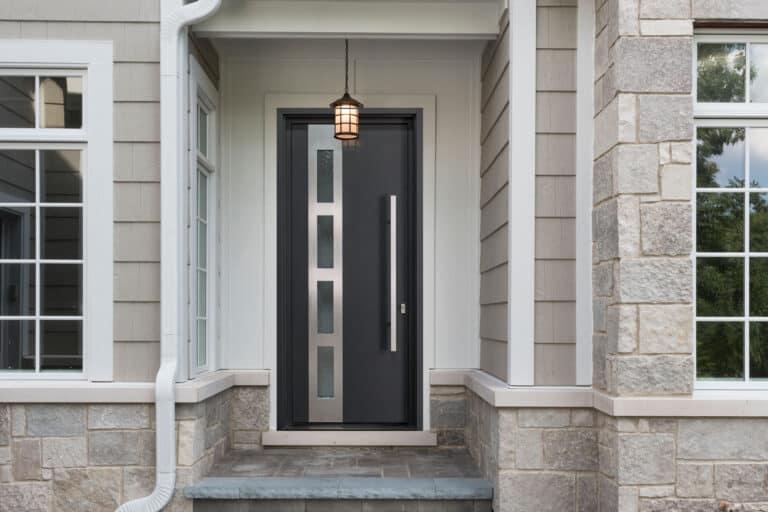 Glenview Exterior Door Black and Silver