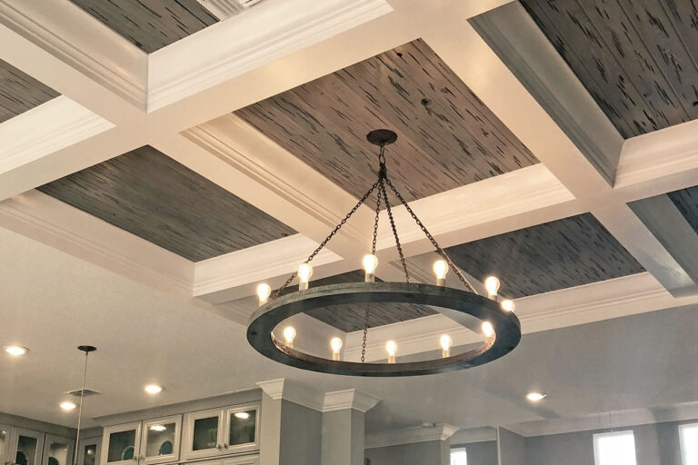 Synergy e-peck cypress weathered grey kitchen ceiling